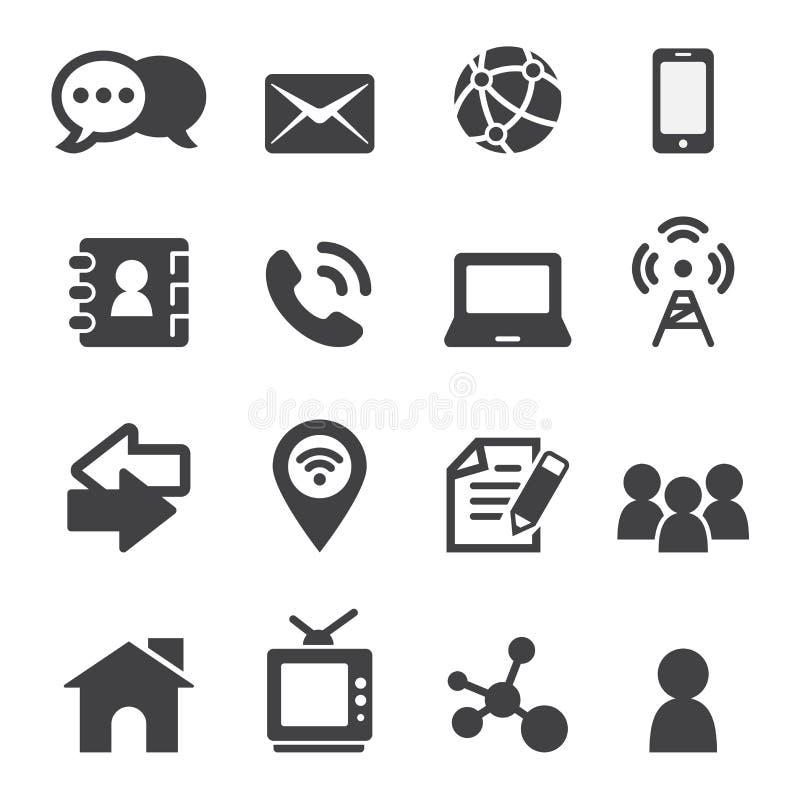 Kontaktowa ikona ilustracji