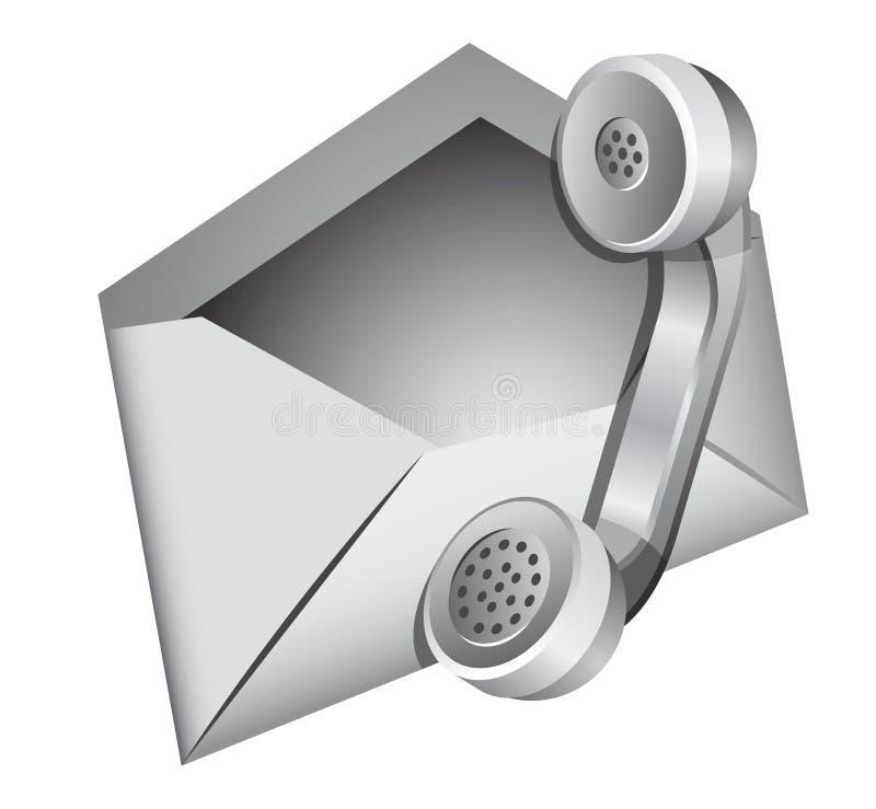 kontaktowa ikona my royalty ilustracja