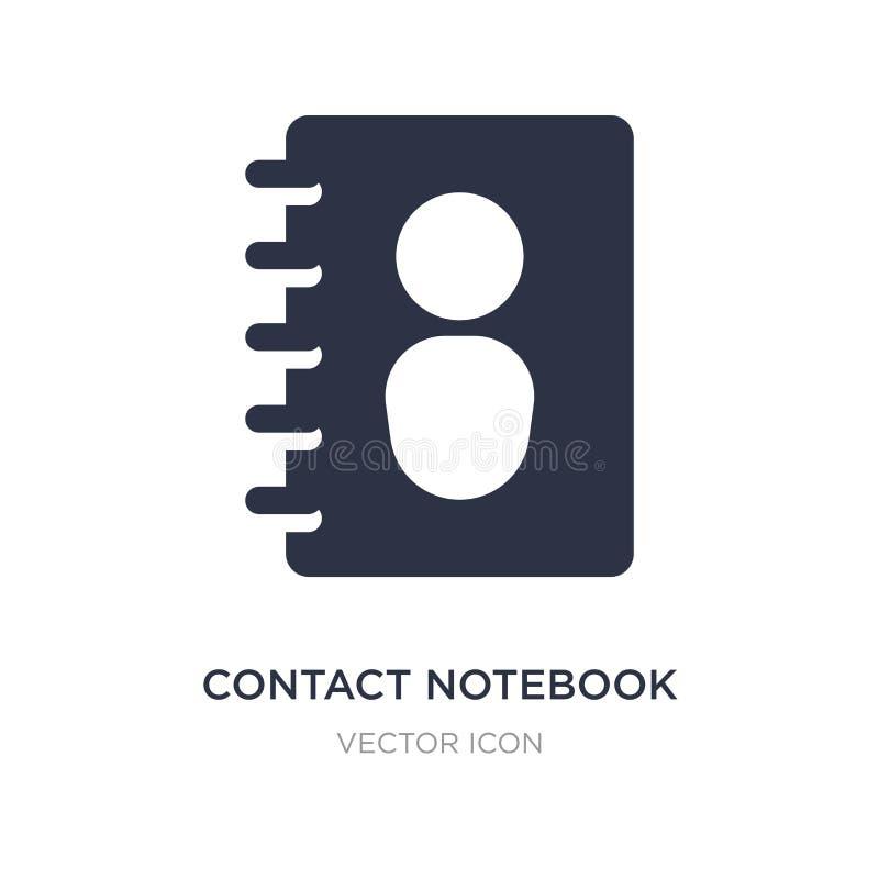 kontaktowa notatnik ikona na białym tle Prosta element ilustracja od UI pojęcia ilustracji