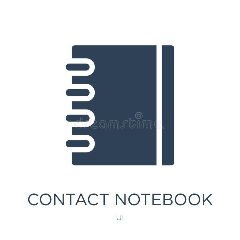 kontaktowa notatnik ikona w modnym projekta stylu kontaktowa notatnik ikona odizolowywająca na białym tle kontaktowa notatnika we ilustracja wektor