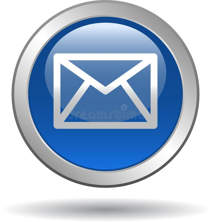 Kontaktowa poczta ikony sieć zapina błękit ilustracja wektor