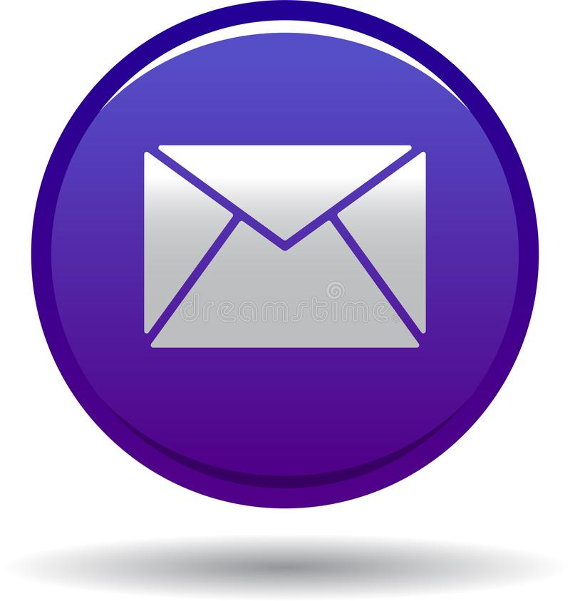 Kontaktowa poczta ikony sieć zapina fiołka royalty ilustracja