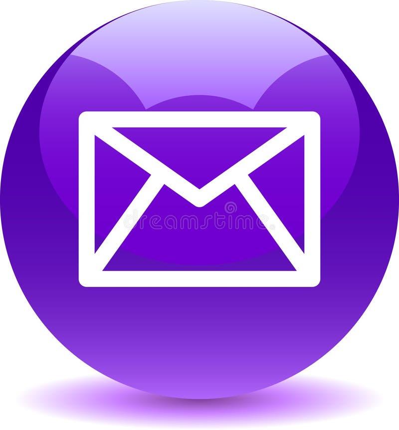 Kontaktowa poczta ikony sieć zapina fiołka ilustracji