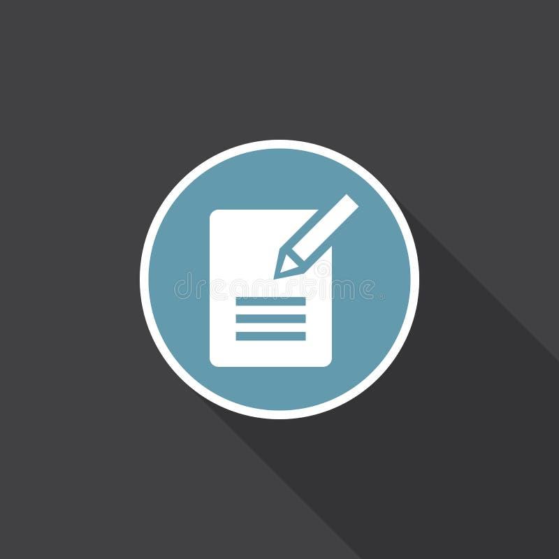 Kontaktowy formularzowy ikona wektor odizolowywający na czerni ilustracja wektor