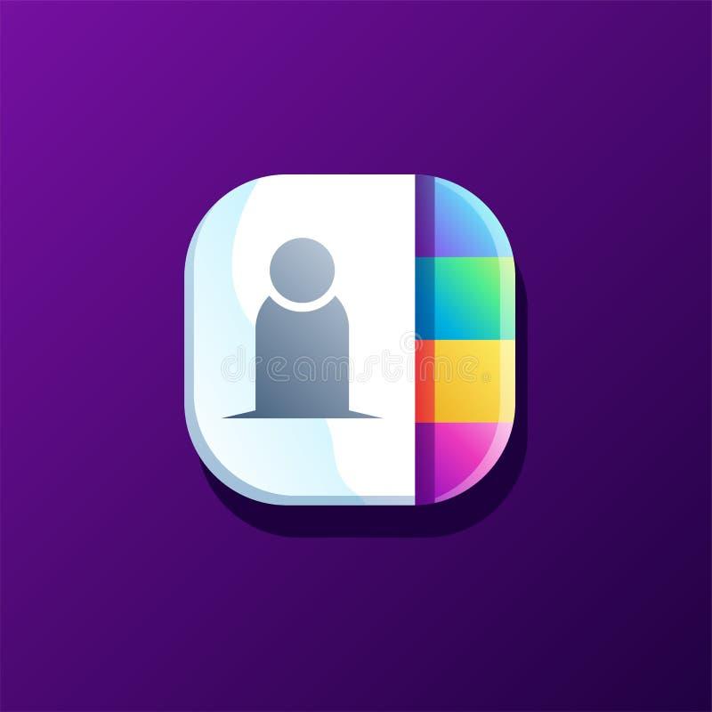 Kontaktowy ikona projekt gotowy używać royalty ilustracja