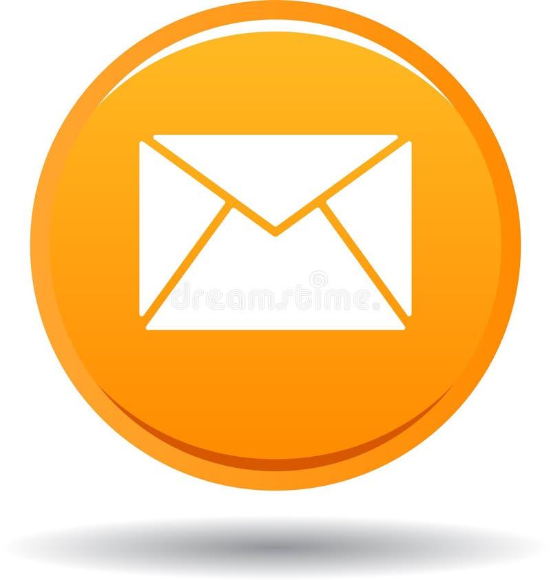 Kontaktpost-Ikonennetz knöpft Orange lizenzfreie abbildung