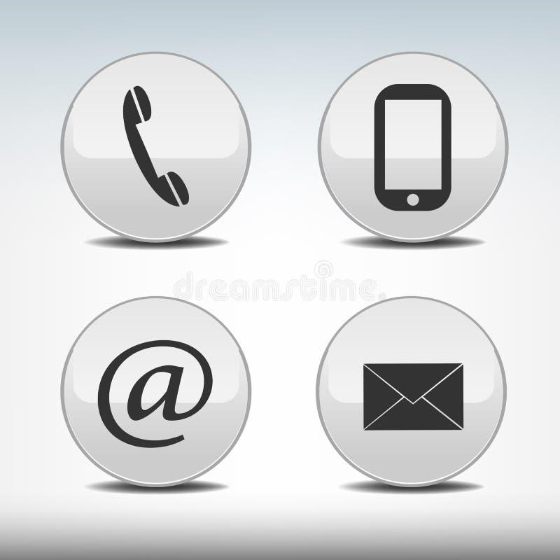 Kontaktsymboler royaltyfri bild