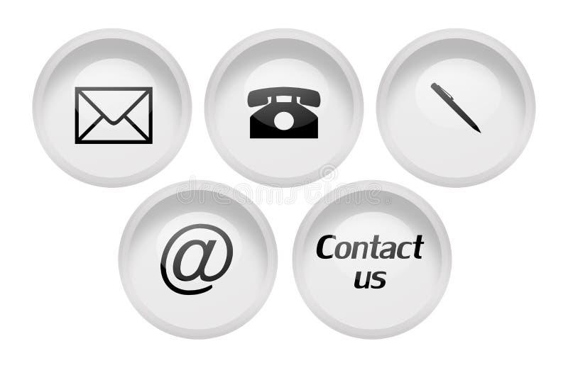Kontakttecken för affär stock illustrationer