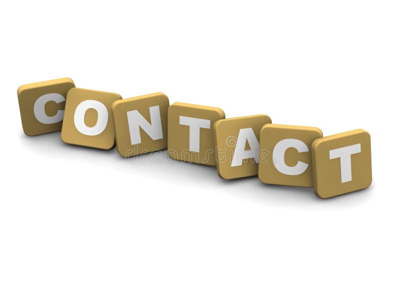 Kontakttext lizenzfreie abbildung