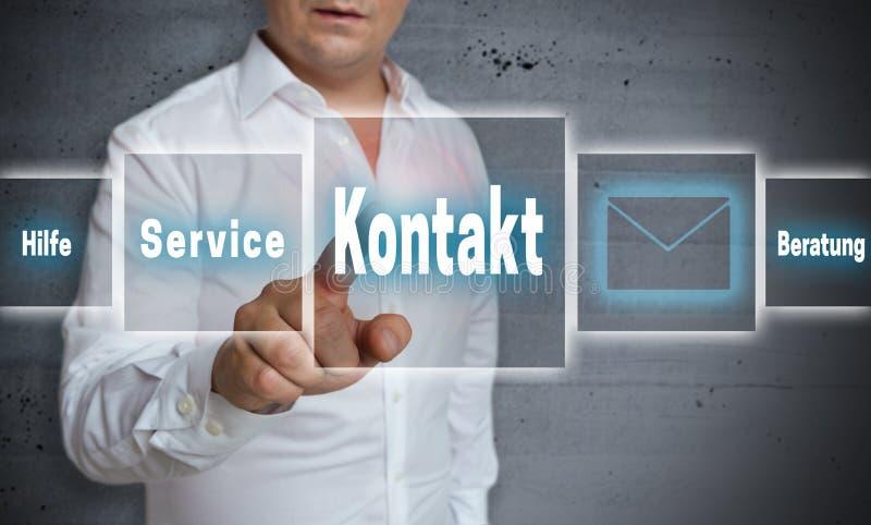 Kontaktu (w niemiec kontaktu usługa pomocy rada) ekran sensorowy conc fotografia stock