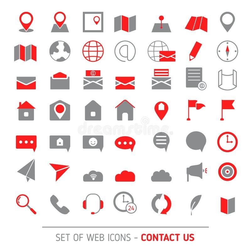 Kontaktuje się ikona set ilustracja wektor
