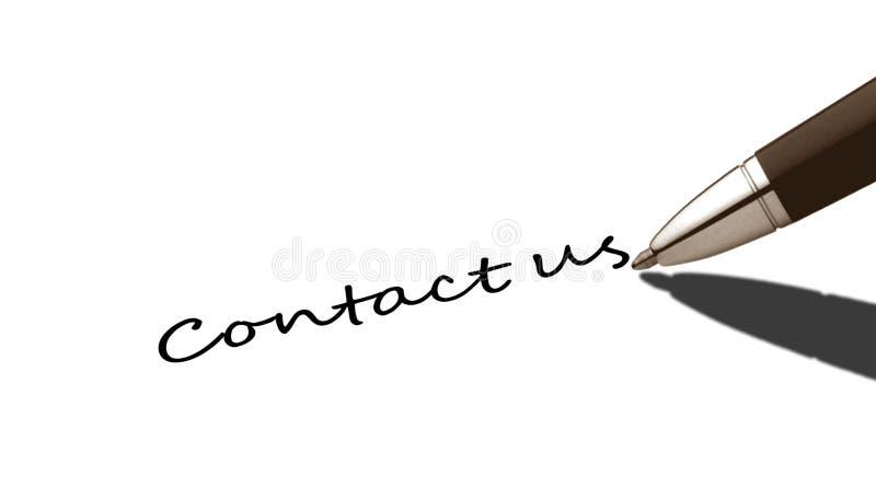 kontaktuje się my zdjęcie stock
