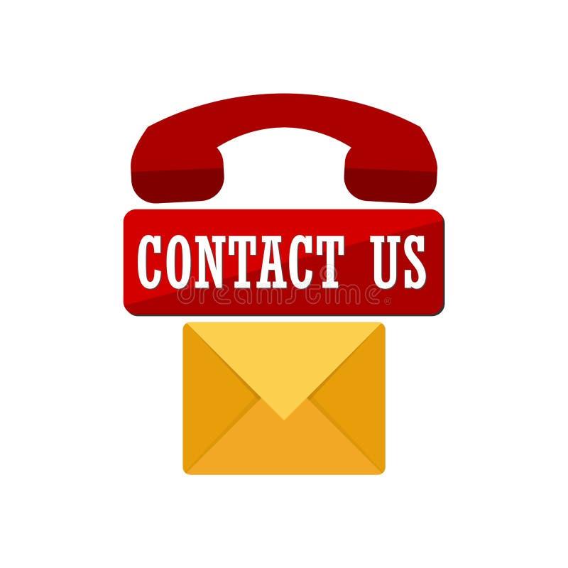 Kontaktuje się my, dzwoni, kontaktuje się ikona, my, kontakty, email, wiadomość ilustracja wektor