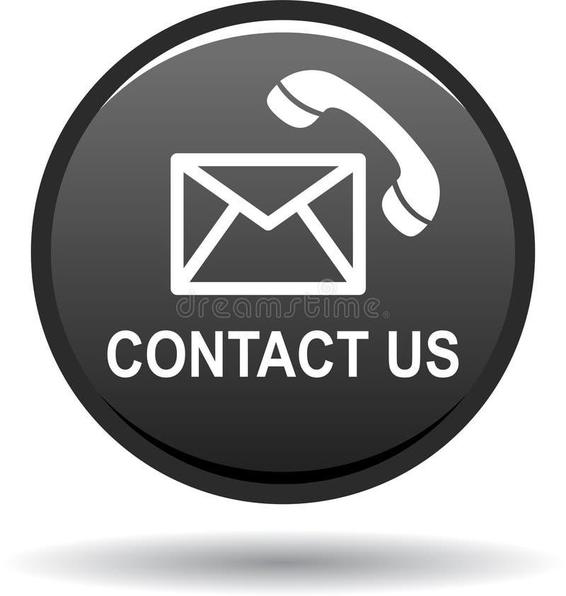 Kontaktuje się my guzik poczta wezwania ikon czerń ilustracji