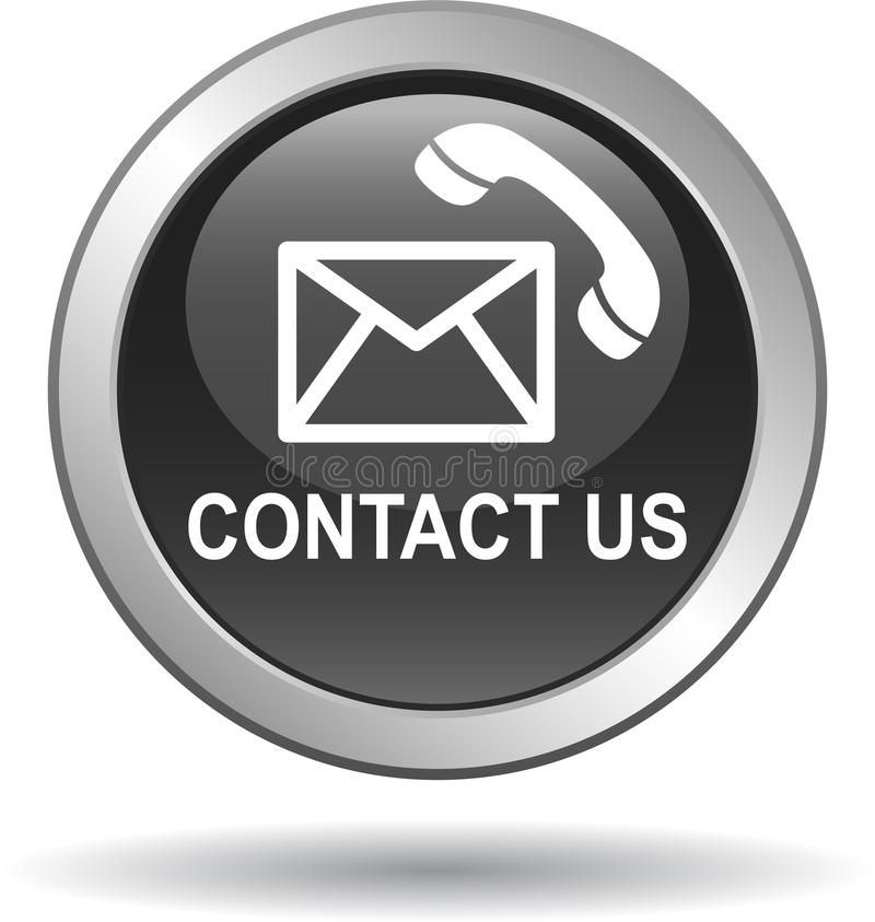 Kontaktuje się my poczta wezwania ikon czerń ilustracji