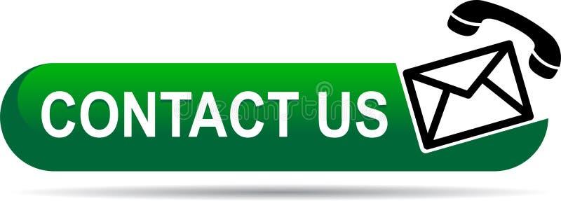 Kontaktuje się my poczta wezwania ikon zieleń ilustracji