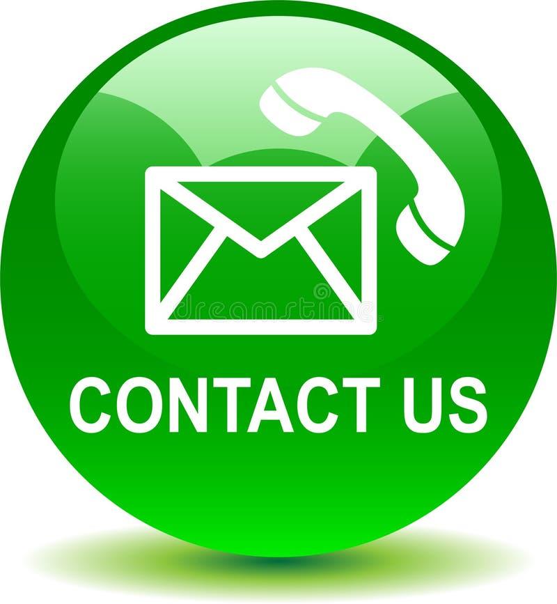 Kontaktuje się my poczta wezwania ikon zieleń ilustracja wektor
