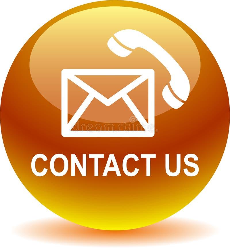Kontaktuje się my poczta wezwania ikony żółte ilustracja wektor