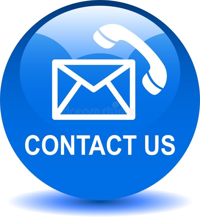 Kontaktuje się my poczta wezwania ikony błękitne ilustracja wektor