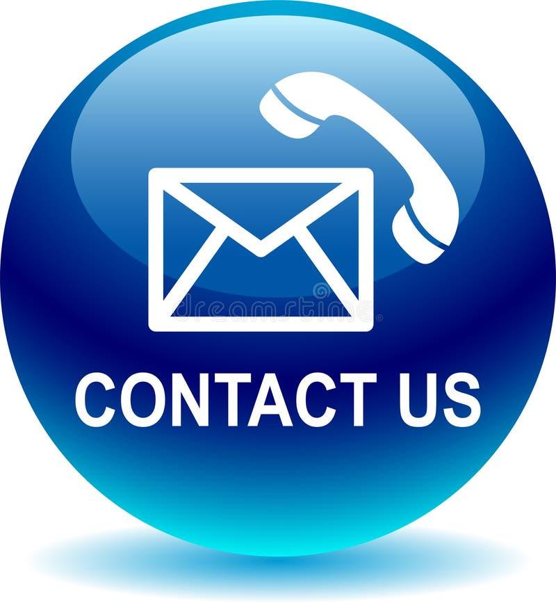 Kontaktuje się my poczta wezwania ikony błękitne ilustracji