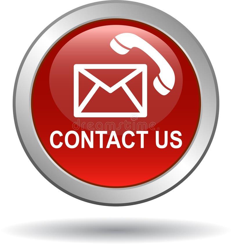 Kontaktuje się my poczta wezwania ikony czerwone ilustracja wektor