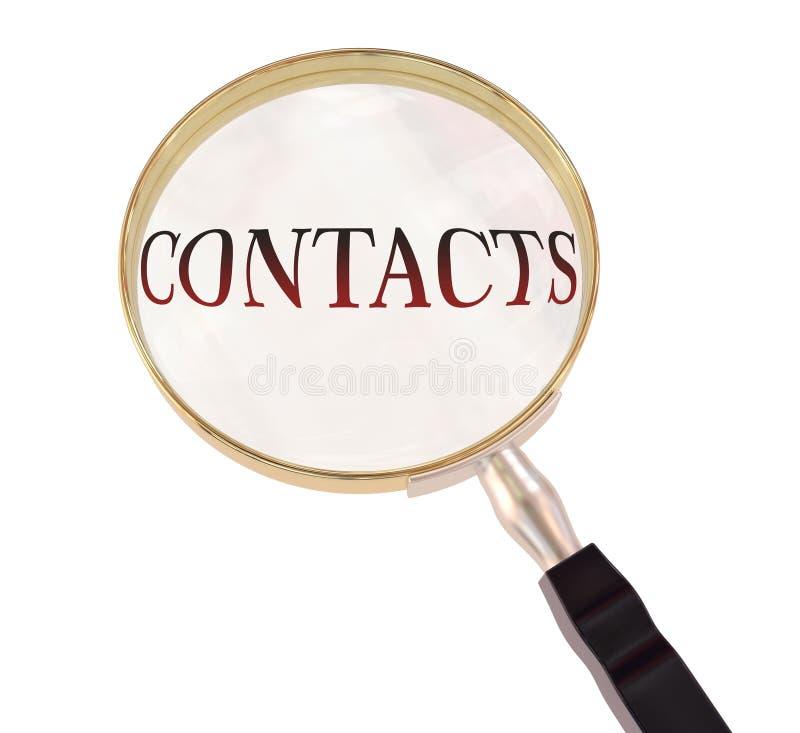 Kontakty powiększają royalty ilustracja