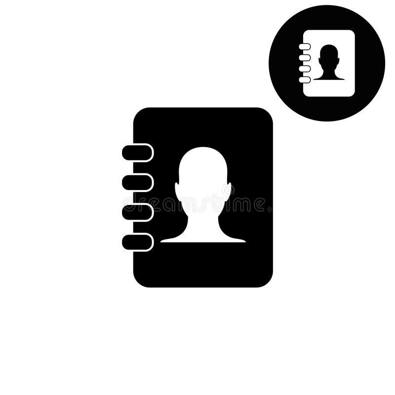 Kontakty rezerwują - białą wektorową ikonę royalty ilustracja