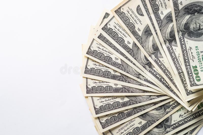 Kontant pengardollar royaltyfria bilder