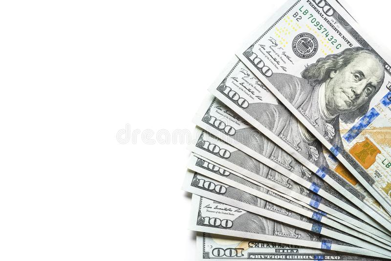Kontant pengardollar arkivbild