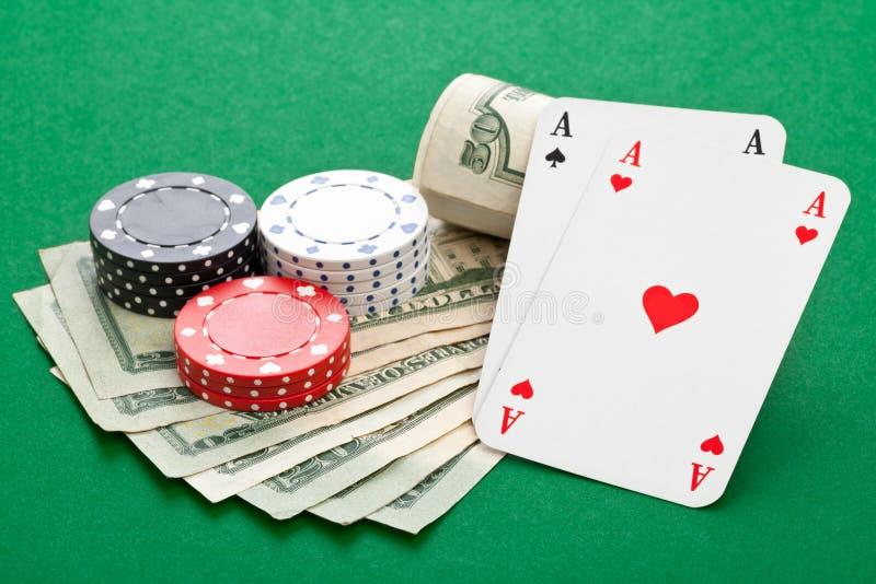 Kontant poker arkivfoton