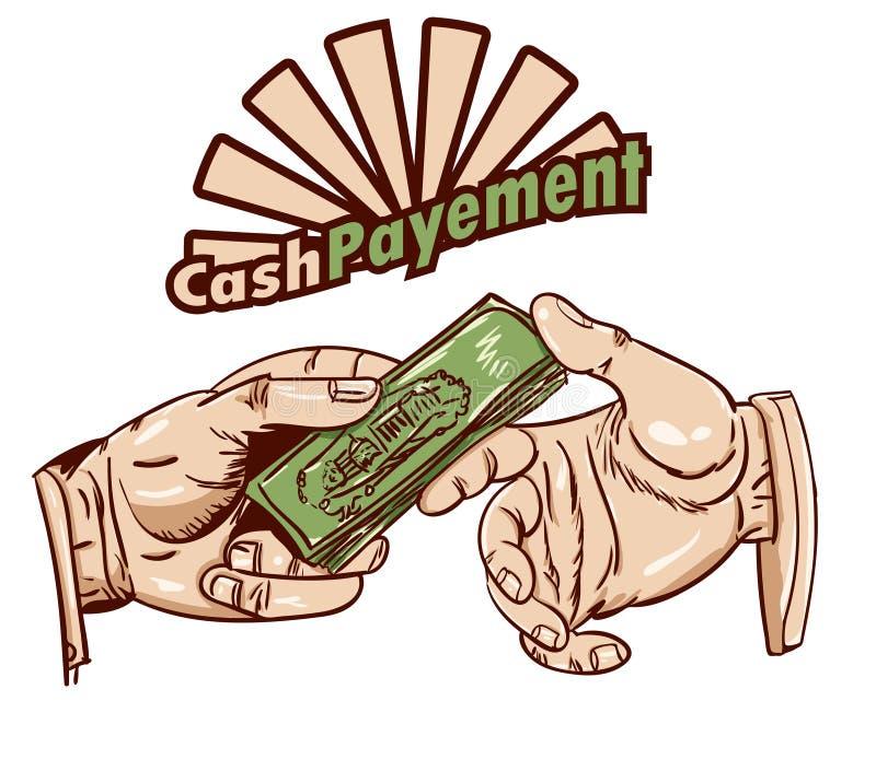 Kontantbetalning stock illustrationer
