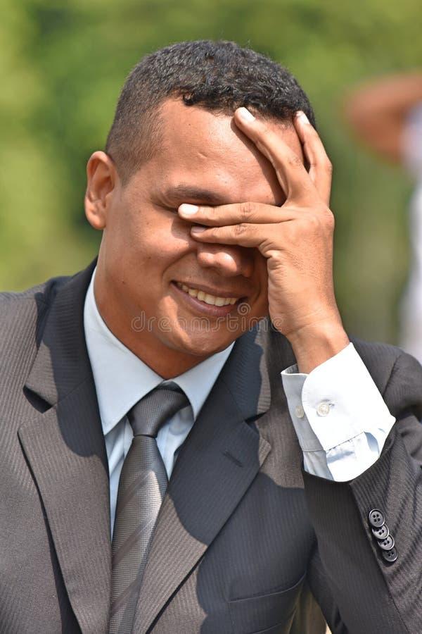 Kontemplacyjny Biznesowy mężczyzna Jest ubranym kostium I krawat obraz royalty free