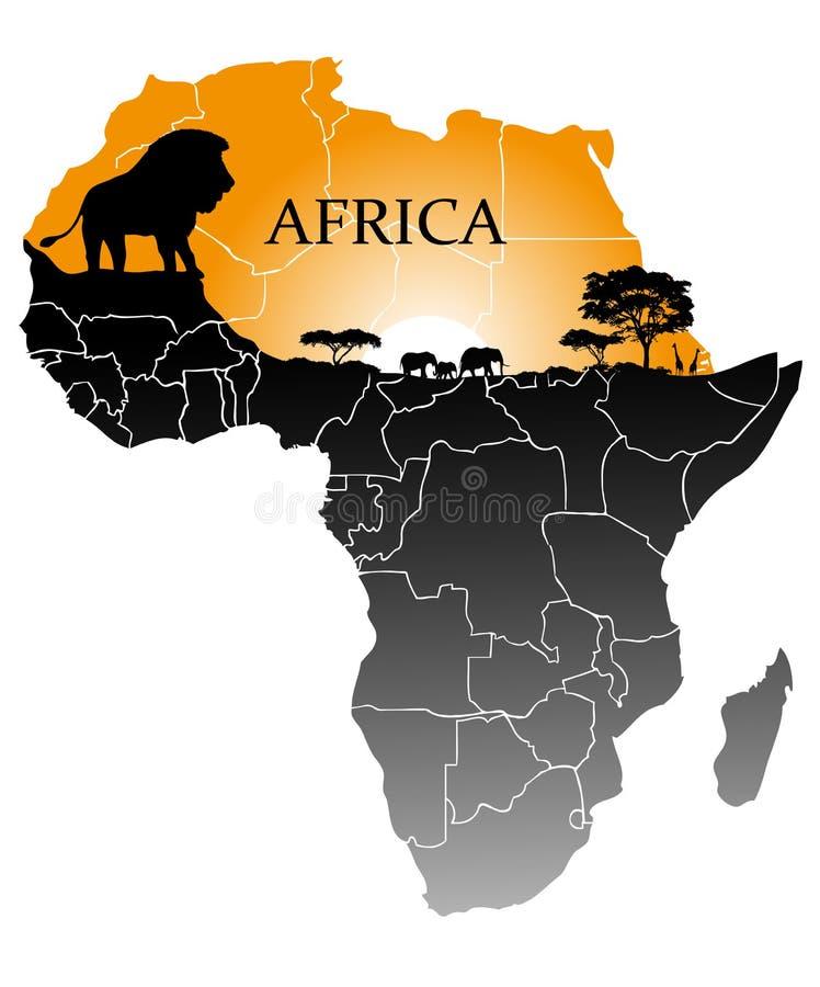 Kontinent Afrika lizenzfreie abbildung