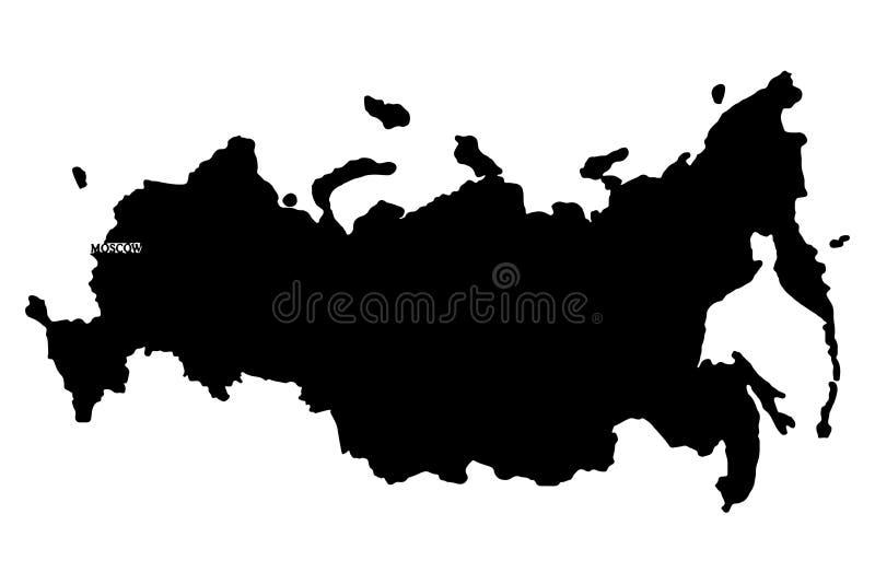 kontinental ?versikt politiska russia Vektor?versikt f?r rysk federation ocks? vektor f?r coreldrawillustration vektor illustrationer