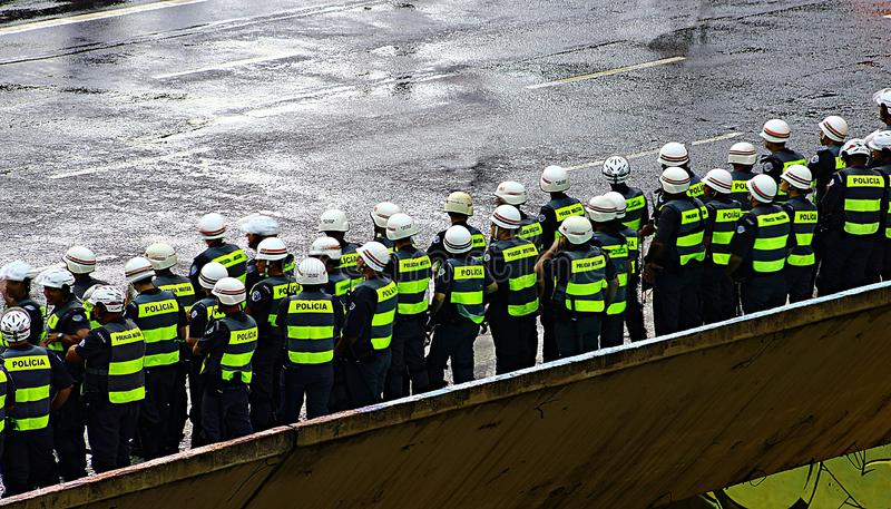 Kontingent av den militära polisen royaltyfri bild