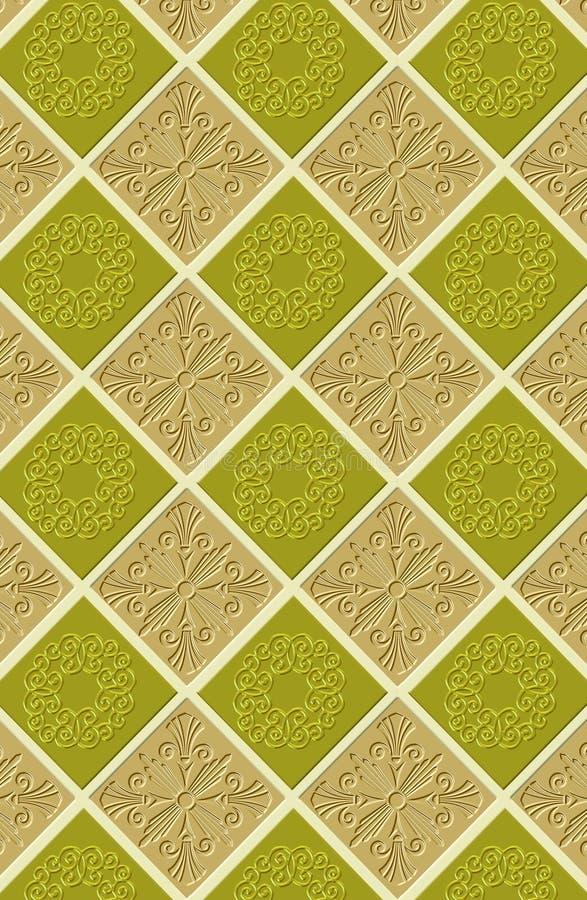 Kontinuierliche Tapetenfliesen lizenzfreie abbildung