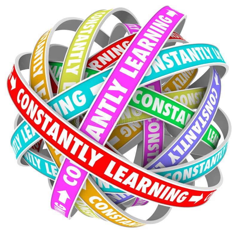 Kontinuierliches Wachstums-Bildungs-Training ständig lernen vektor abbildung
