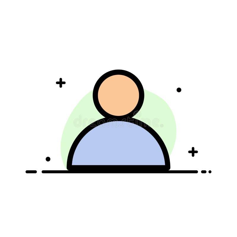 Konto, Avatara, Benutzer-Geschäfts-flache Linie füllte Ikonen-Vektor-Fahnen-Schablone vektor abbildung