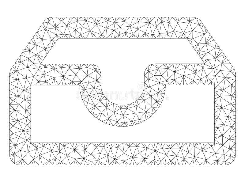 Konto-Kasten-polygonaler Rahmen-Vektor Mesh Illustration stock abbildung