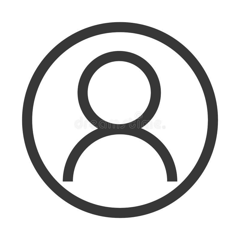 Kontoikonen-Entwurfsvektor eps10 Benutzerprofil-Zeichennetzikone mit H?kchen Glyph Benutzer autorisierte Vektorillustration stock abbildung