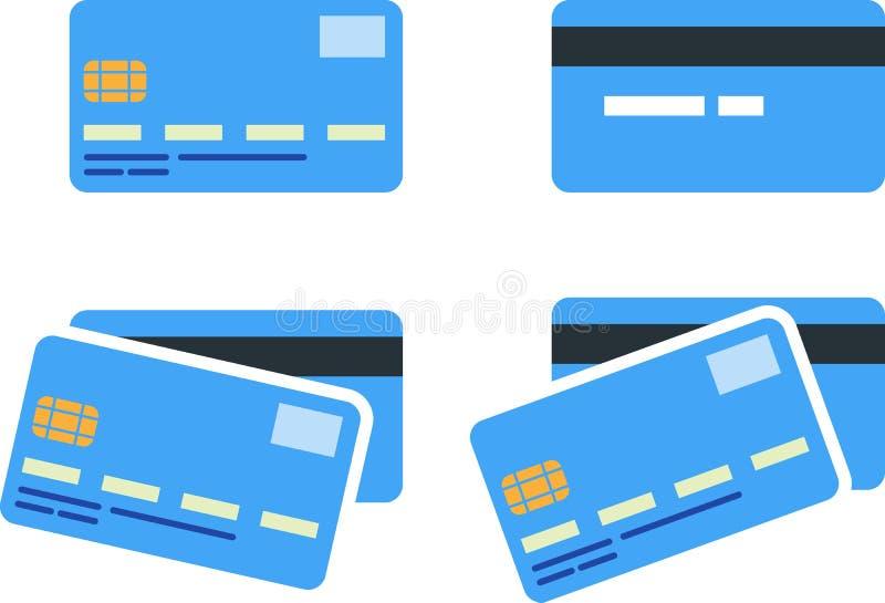 Kontokort vektor illustrationer