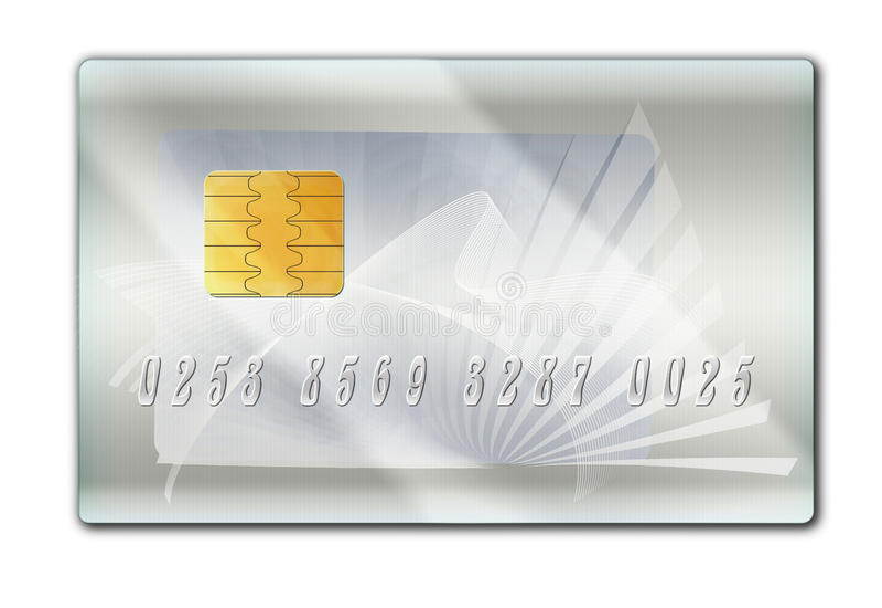 kontokortplast-silver arkivbild
