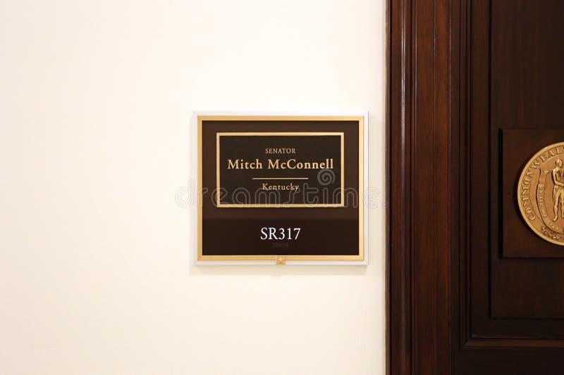 Kontor av Förenta staternasenatorn Mitch McConnell arkivbild