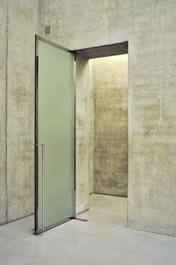 kontor för dörringångsexponeringsglas arkivfoto