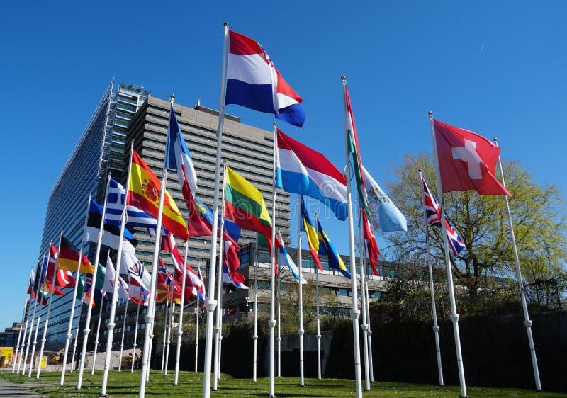 Kontor för europeiskt patent i Rijswijk, Nederländerna royaltyfri fotografi
