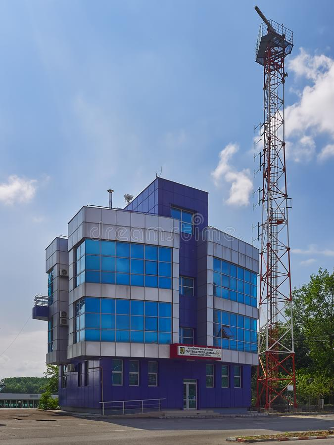 Kontor för förlage för hamn` s i Braila, Rumänien arkivfoton