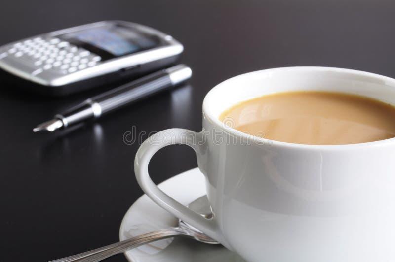kontor för kaffekopp royaltyfri bild