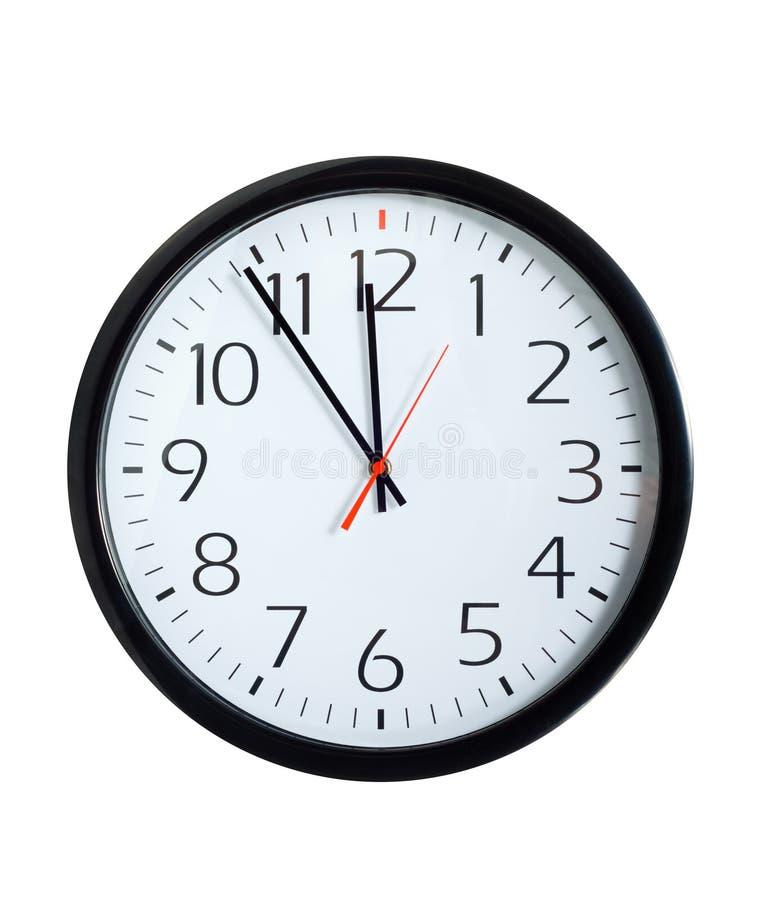 kontor för klockaframsida fotografering för bildbyråer