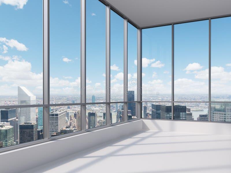 Kontor med det stora fönstret vektor illustrationer