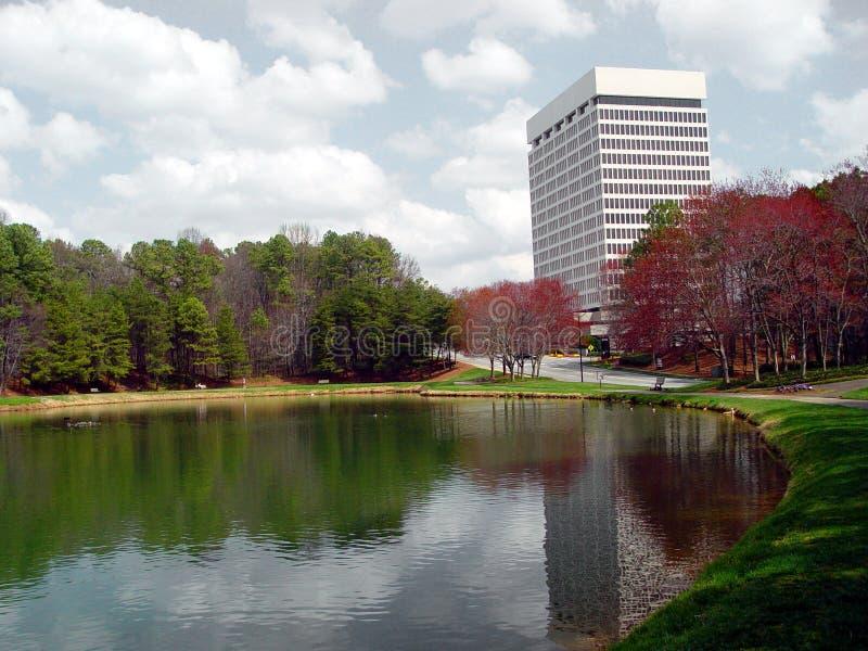 kontor park1 arkivbild